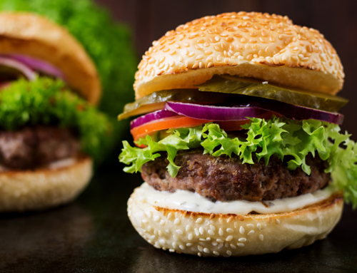 Recipe: Homemade Beef Burger with American Mustard & Pickles
